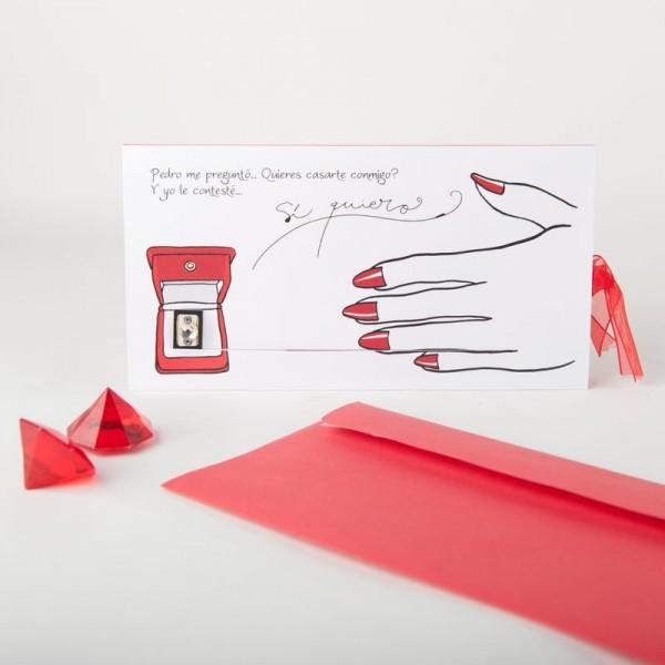Invitación de Boda creativa ponme el anillo