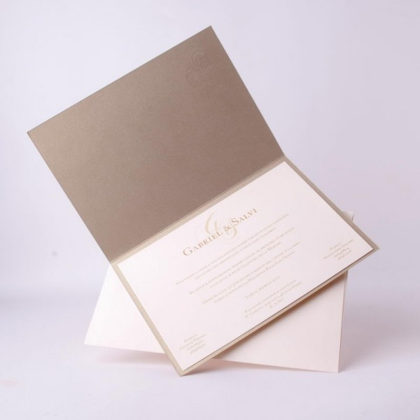 Invitación de Boda original tono crema