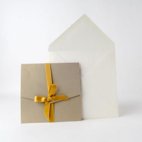 Invitación de Boda original lazada oro