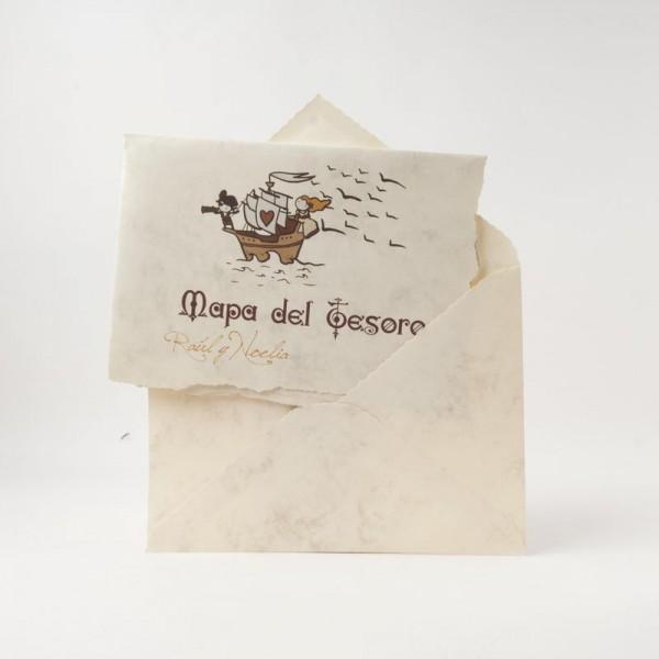 Invitación de Boda creativa mapa del tesoro