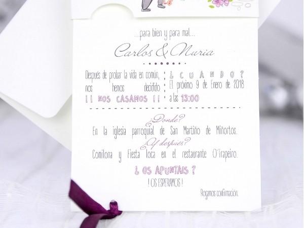 Invitación de Boda creativa floreal