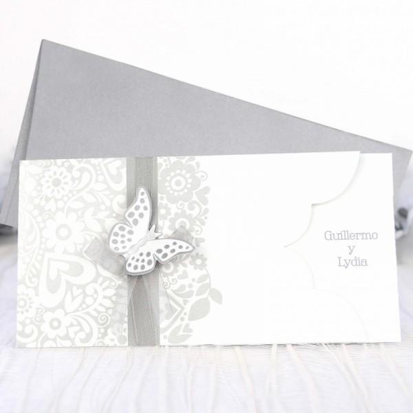 Invitación de Boda original mariposa