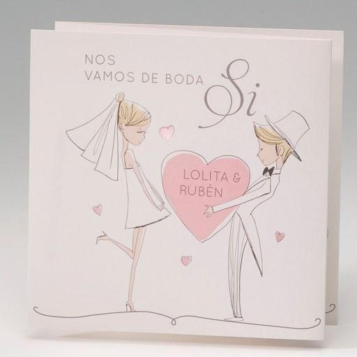 Invitación Boda romántica te regalo mi corazón