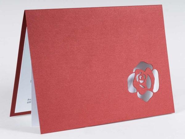 Invitación de Boda original con sello flor