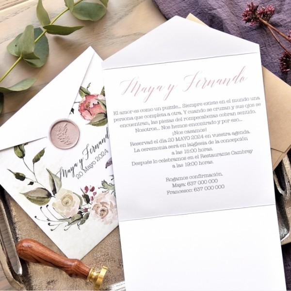 Invitación de Boda sellos