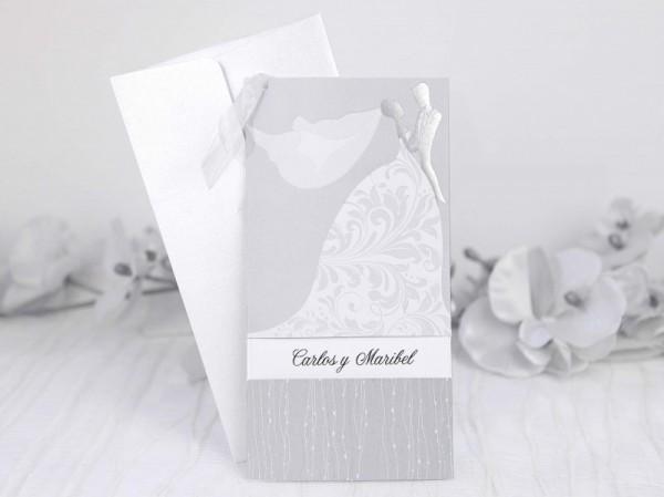 Invitación de Boda original vestido ideal