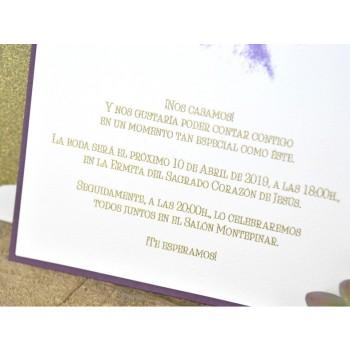 Invitación de Boda original pinceladas