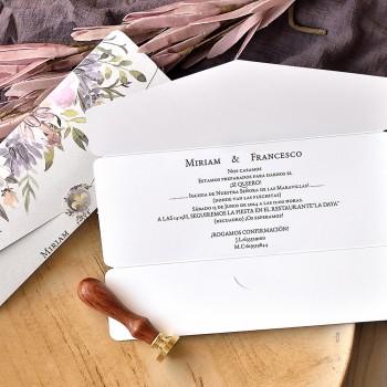 Invitación de Boda Flor de Lis